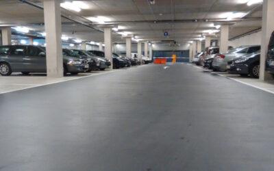 Etanchéité / couche de roulement du parking souterrain Palais de Justice (Gand)