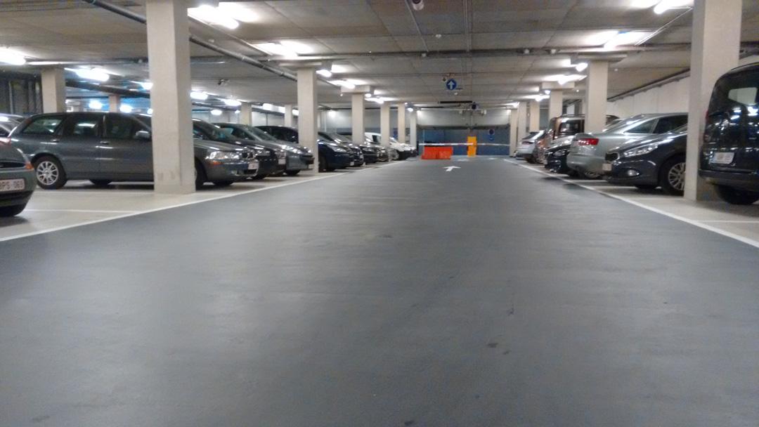 Derde Construct - Interbuild - gerechtsgebouw Gent - parkeerdak