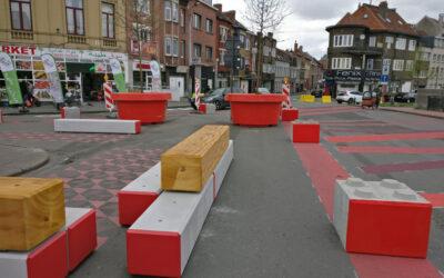 Installations diverses dans le cadre du plan de circulation de Gand