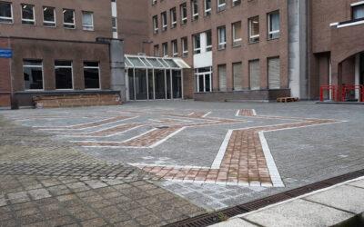 Renovatie esplanade Trône 98 (Brussel) in opdracht van Cofinimmo