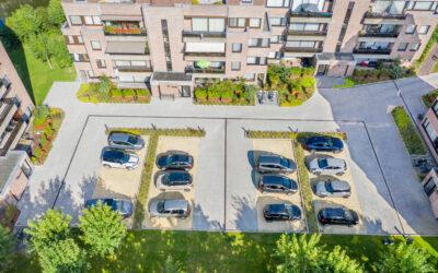 Totaalrenovatie parkeerdak Residentie Canadesenhof (Brugge)