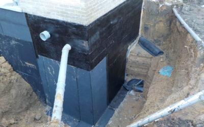 Nieuwe waterdichting kelderwand Residentie Classimo (Zottegem)