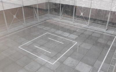 Aménagement patio hôpital dans le cadre d'une installation artistique (AZ Delta – Roulers)