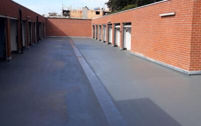 Rénovation toiture-parking Résidence De Hulste (Immo Isera – Bruges)