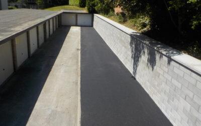 Nouveau mur de soutènement – parking résidence Wimbledon (Gérance Verdurmen-Remy – Berchem Sainte Agathe)